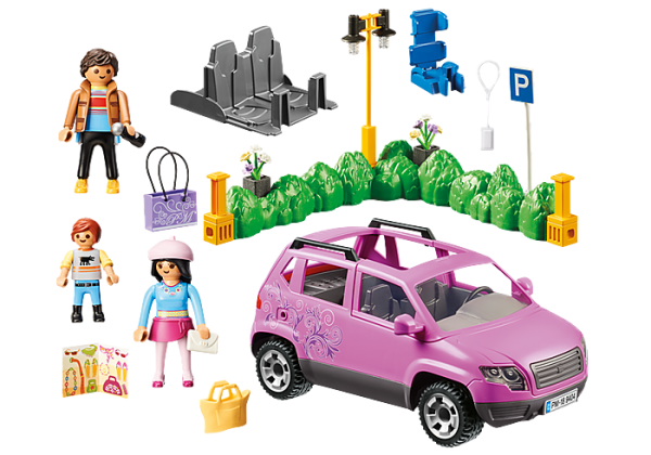 Playmobil City Life 9404 Family Car with Parking - image 9404_Family-Car-with-Parking-Space_1-600x420 on https://pop.toys