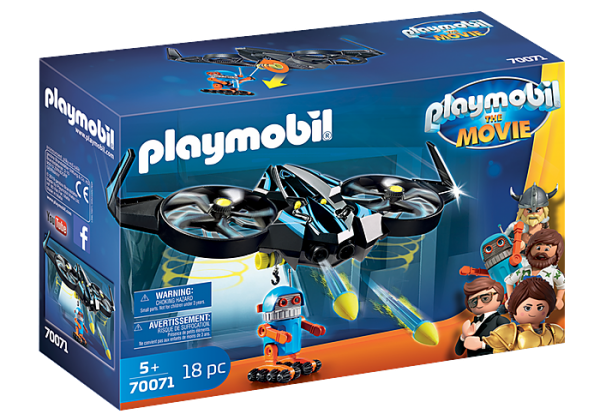 Playmobil the Movie 70071 Robotitron with Drone - image 70071_PLAYMOBIL_THE-MOVIE-Robotitron-with-Drone-600x420 on https://pop.toys