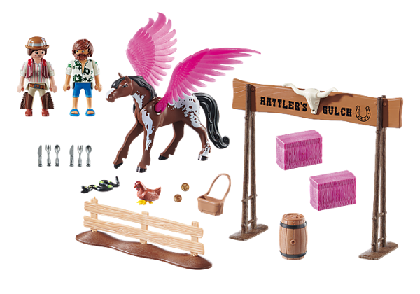 Playmobil the Movie 70074 Marla and Del with Pegasus - image 70074_PLAYMOBIL_THE-MOVIE-Marla-Del-and-Pegasus1-600x420 on https://pop.toys