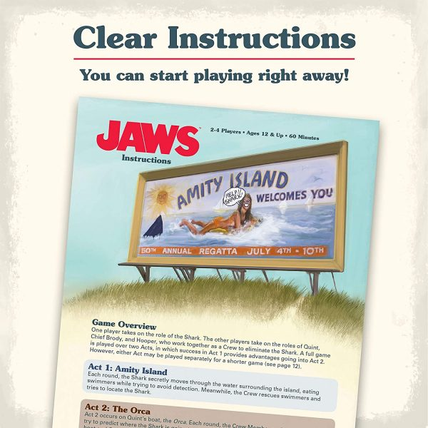 Jaws Board Game - A game of strategy and suspense Ravensburger Games 12+ - image jaws_4-600x600 on https://pop.toys