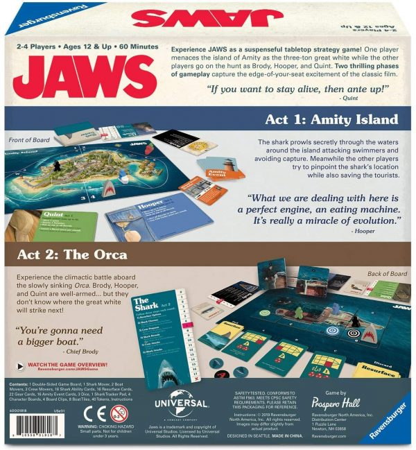 Jaws Board Game - A game of strategy and suspense Ravensburger Games 12+ - image jaws_7-1-600x649 on https://pop.toys