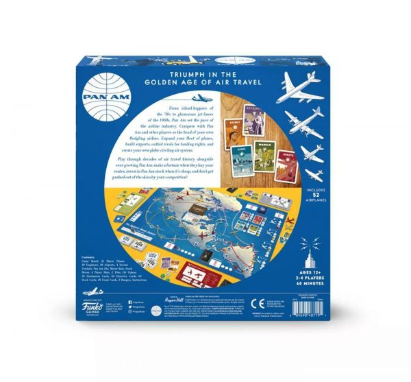 Pan Am Strategy Board Game - Funko Games 12+, 2 - 4 players - image on https://pop.toys