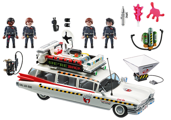 Playmobil Ghostbusters 70170 Ecto-1A Vehicle with 4 figs - image 70170_Ghostbusters-Ecto-1A_1-600x420 on https://pop.toys