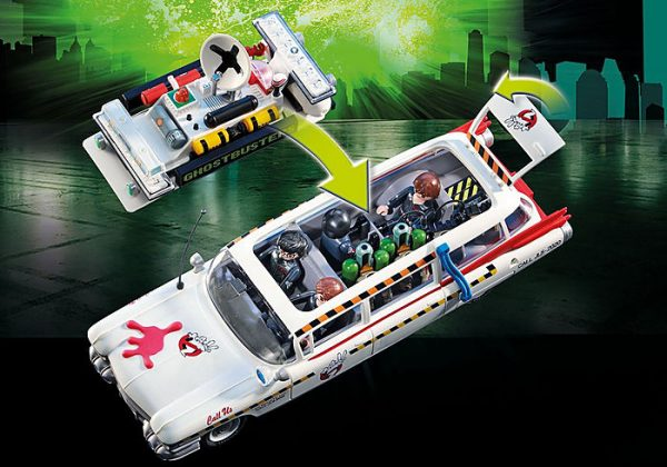 Playmobil Ghostbusters 70170 Ecto-1A Vehicle with 4 figs - image 70170_Ghostbusters-Ecto-1A_3-600x420 on https://pop.toys