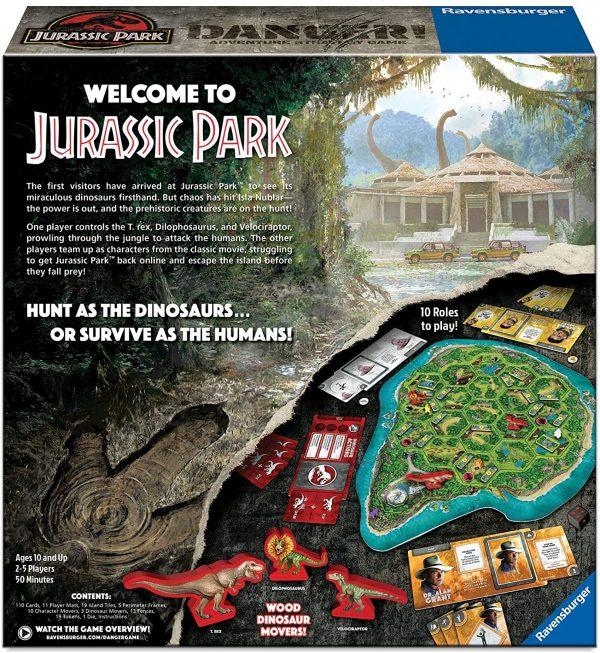 Jurassic Park: Danger Board Game - adventure strategy Ravensburger Games 10+ - image JurassicParkGame_2-600x653 on https://pop.toys