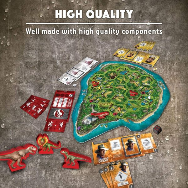 Jurassic Park: Danger Board Game - adventure strategy Ravensburger Games 10+ - image JurassicParkGame_4-600x600 on https://pop.toys