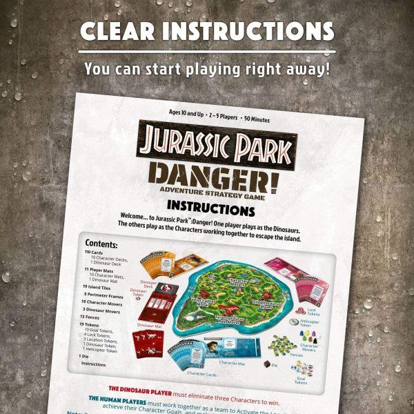 Jurassic Park: Danger Board Game - adventure strategy Ravensburger Games 10+ - image JurassicParkGame_5-600x600 on https://pop.toys